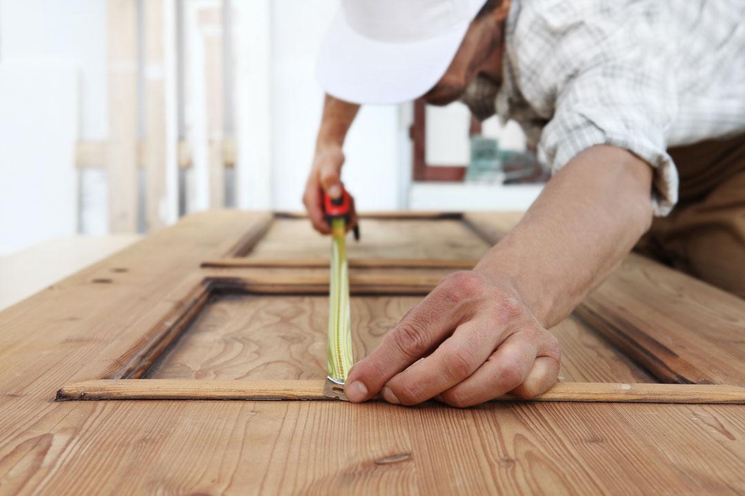 Ausmessung Holzbrett