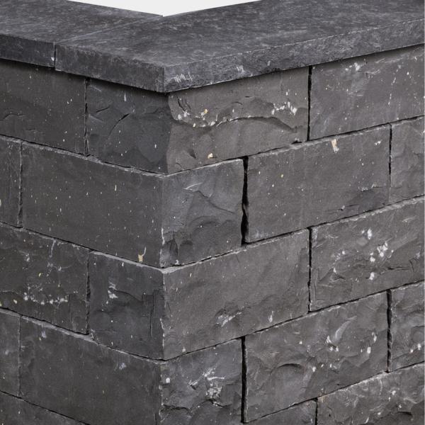 Seltra Klostermauerstein Sanoku Basalt Elegance anthrazit schwarz 40x20x15cm