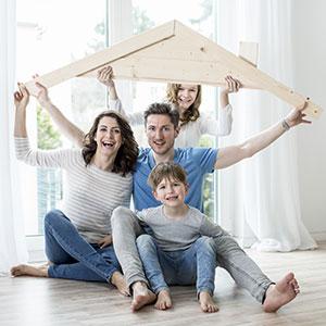 Bauherren-Familie