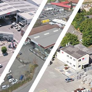 Collage Übersicht Standorte