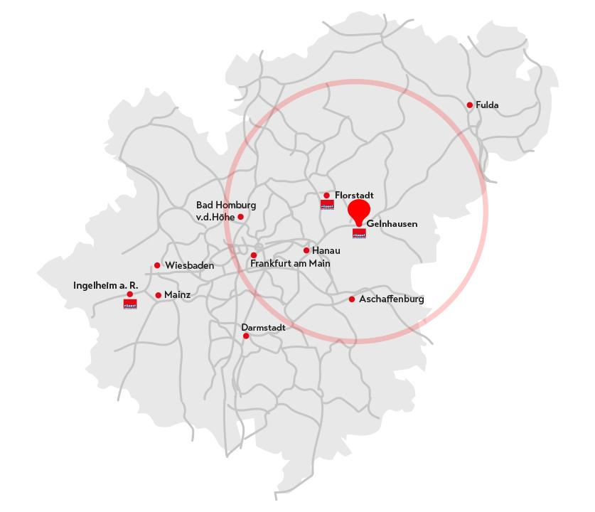Landkarte Gelnhausen