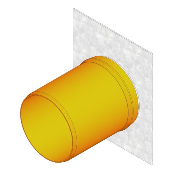 Hauraton Faserfix Standard Stirnwand mit Auslauf DN 100 Typ010