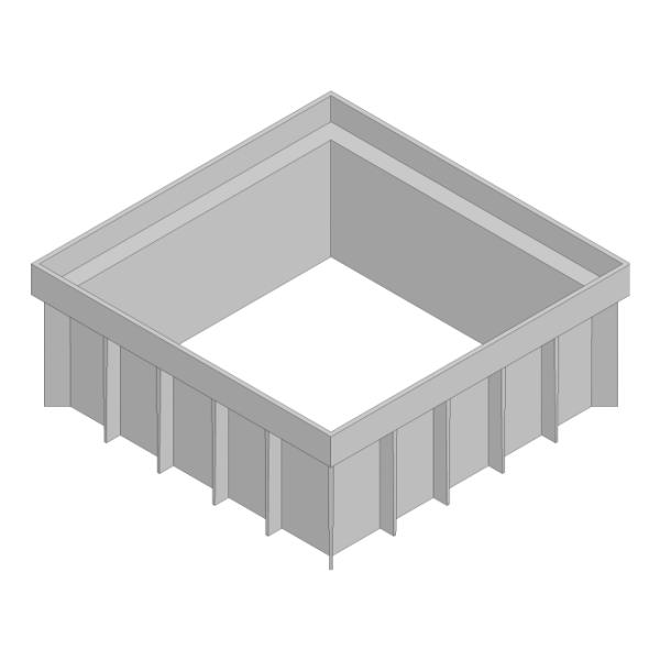 Hauraton Recyfix Hofsinkkasten Aufsatzstück 120 mm