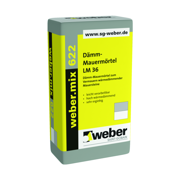 Saint-Gobain weber.mix 622 Dämm-Mauermörtel LM 36 20kg