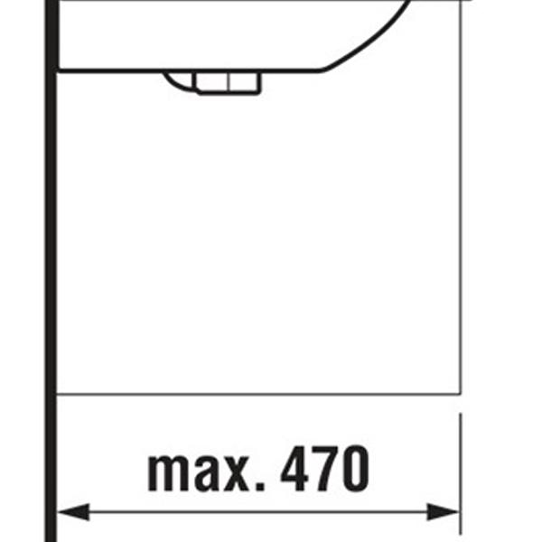delphis unic Waschtisch 1 HL m ÜL 550x420mm weiß delphisClean