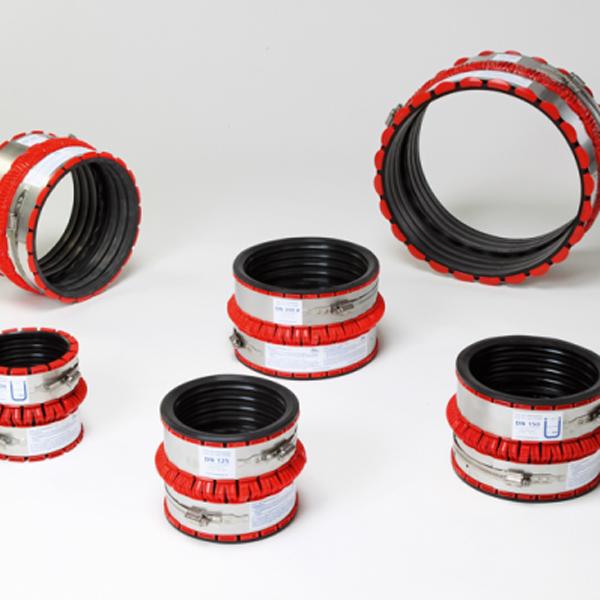 VPC-Rohrkupplung Spannbereich 395-465mm