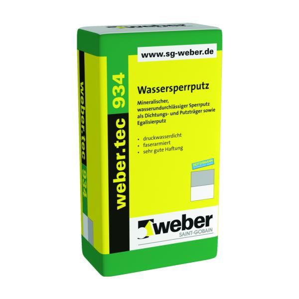 Saint-Gobain weber.tec 934 Wassersperrputz WSP 25kg