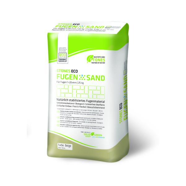 Stones Eco Verfugungsmaterial Fugensand für Pflasterflächen beige 25kg