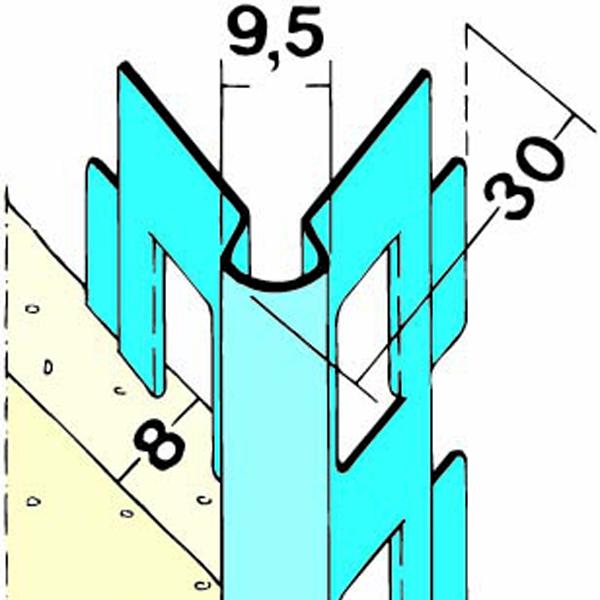 #1015 Kantenprofil Innen verz. Stahlblech PD 8 mm 2.5 m