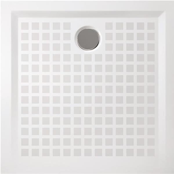 delphis unic Quadrat Duschwanne Mineralg. m AR 1000x1000x30mm we