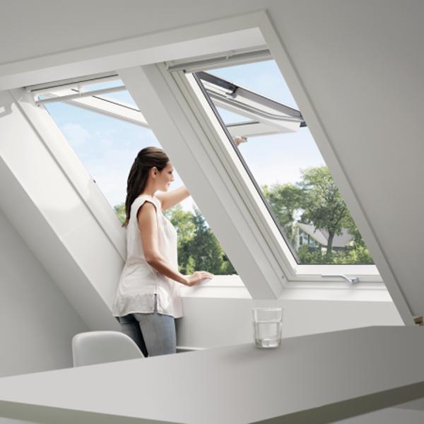 VELUX Klapp-Schwing Fenster GPU 0062  Kunststoff ENERGIE SCHALLSCHUTZ MK04