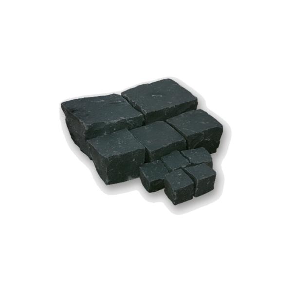 Seltra Pflasterstein Sanoku Basalt anthrazit schwarz 8x8x8cm