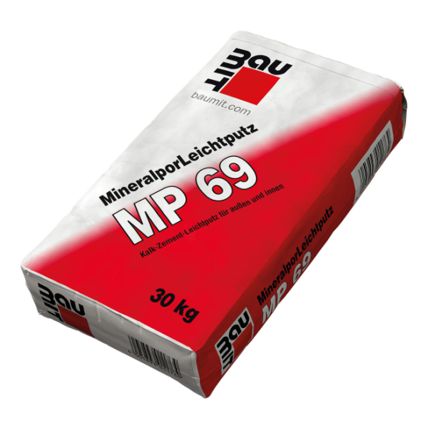 Baumit Mineralpor-Leichtputz MP 69 Kalk-Zement-Leichtputz 30kg