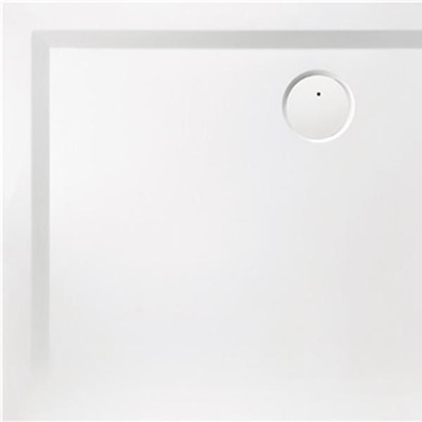 delphis unic Rechteck-Duschwanne Mineralg. o AR 800x1000x30mm weiß