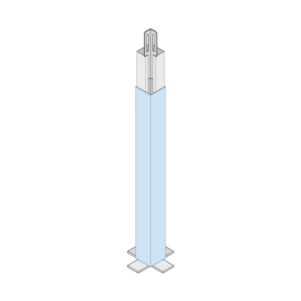 Knauf Cubo-Systemstütze für Raumhöhe 2000-2700mm