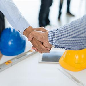Partner - Hände schütteln - Business