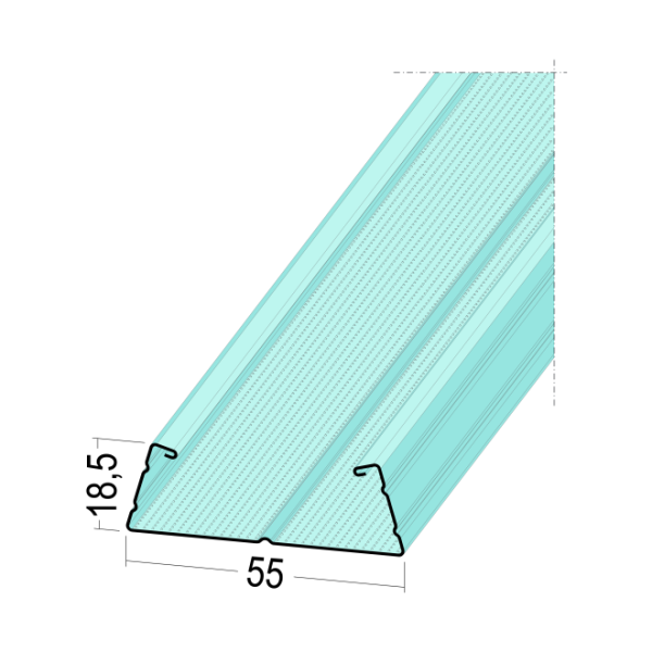 TPS CD-Profil 5104 CD 55-18,5 4m CDProfil
