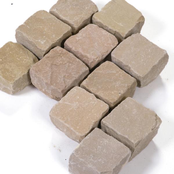 Seltra Pflasterstein Mandra Sandstein gelb hellbeige 10x10x8cm