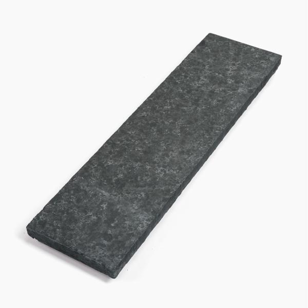 Seltra Naturstein Abdeckplatte Sanoku Basalt Elegance anthrazit schwarz 100x28x4cm