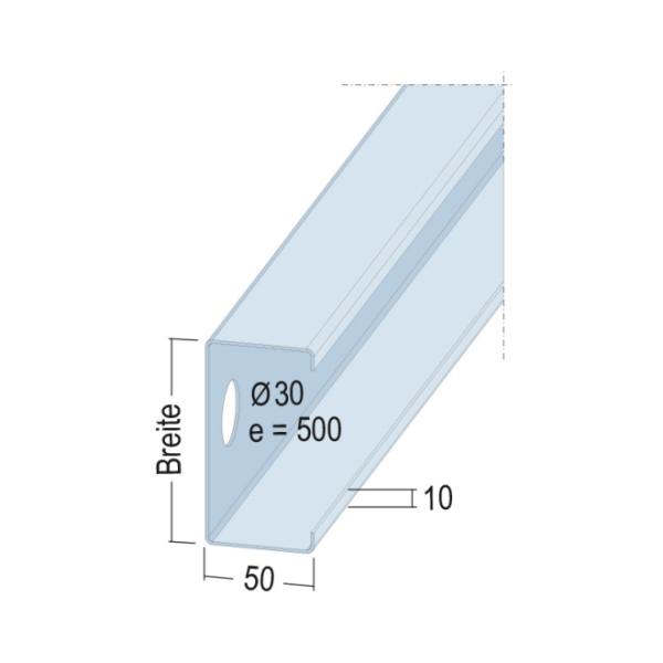 C-Träger-/Wandprofil 4810 97-50-20 5m CWProfil