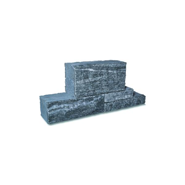 Seltra Klostermauerstein Biasca Gneis silbergrau liniert 30/45/60x18-20x22,5cm