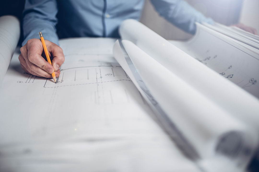 Zeichnung eines technischen Plans