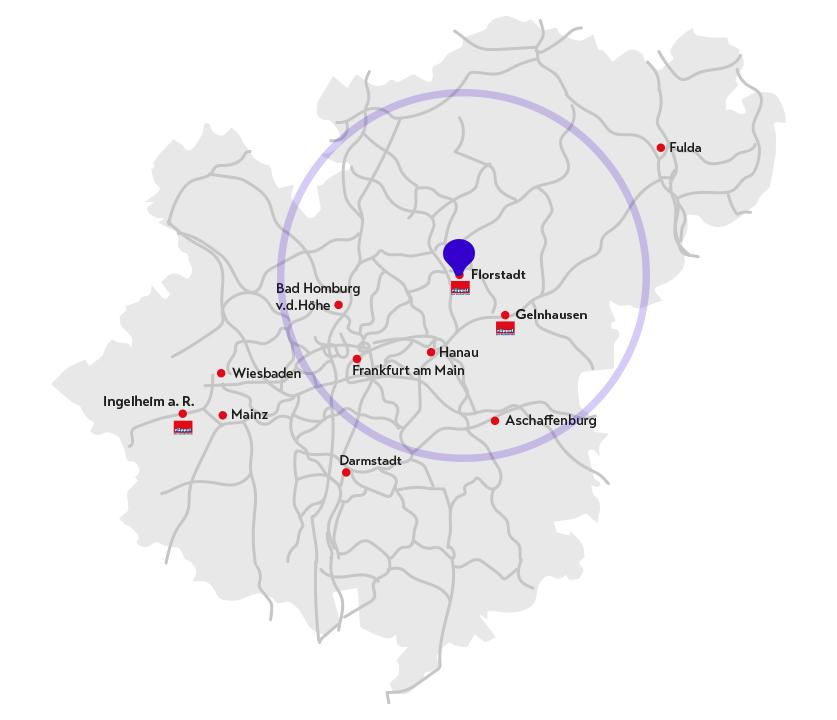 Landkarte Florstadt