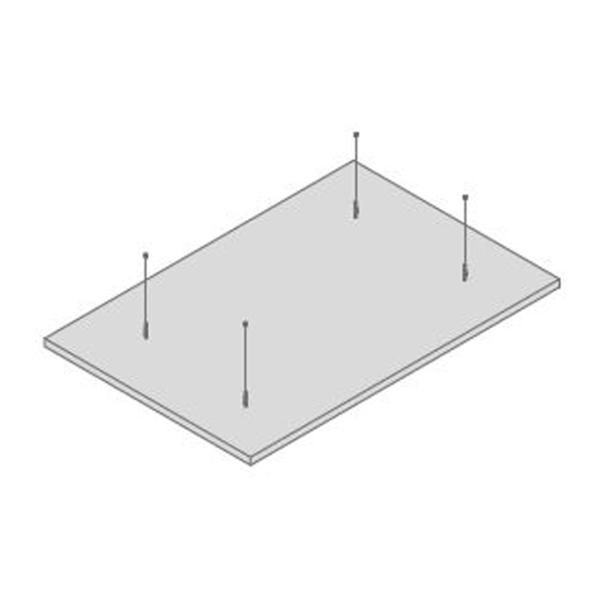 OWA Deckensegel Selecta plus vlieskaschiert weiss 1800x1200mm