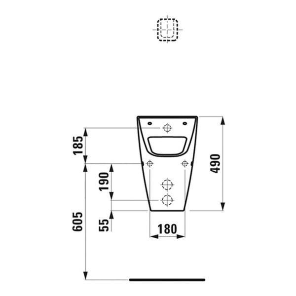 delphis unic Urinal mit Spülrand ohne Deckel weiß