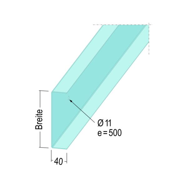 U-Anschlussprofil 4530 301-20 4m UAProfil