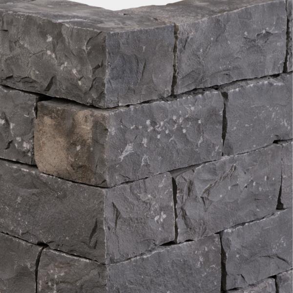Seltra Mauerstein Sanoku Basalt anthrazit schwarz 35x20x15cm