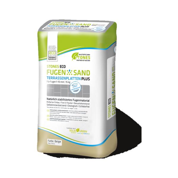 Stones Eco Verfugungsmaterial Fugensand für Terassenplatten Plus beige 15kg