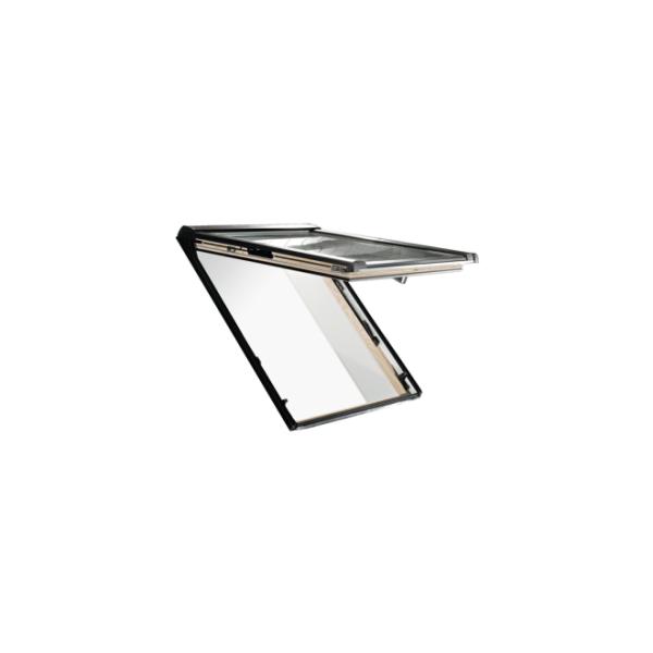 Roto Dachfenster Klapp-Schwingfenster Designo R8 Holz natur 3fach Comfort 05/07