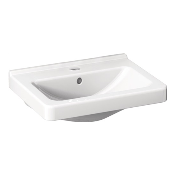 delphis unic Handwaschbecken 1 HL m ÜL 450x340mm weiß delphisClean