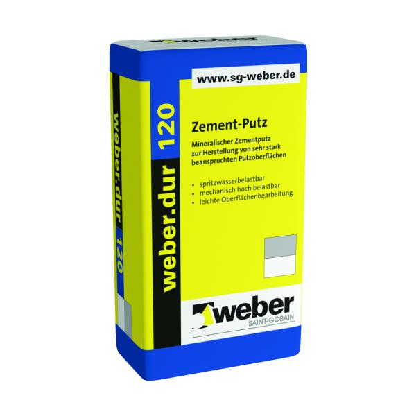 Saint-Gobain weber.dur 120 Zement-Putz 1mm naturgrau 30kg
