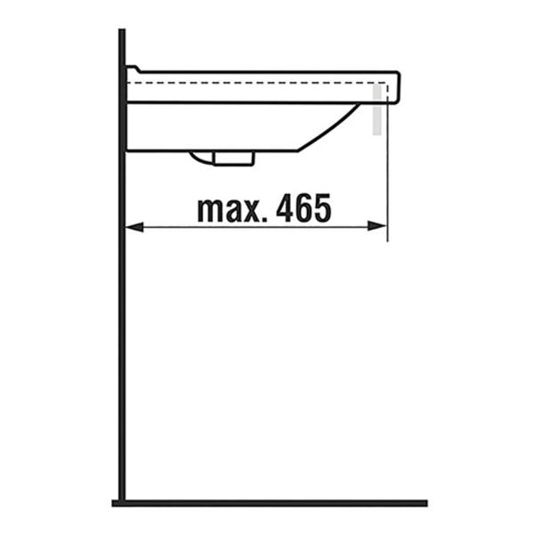 delphis unic Doppel-Waschtisch 2 HL 2 Beck. m j 1 ÜL 1300x485mm we dC