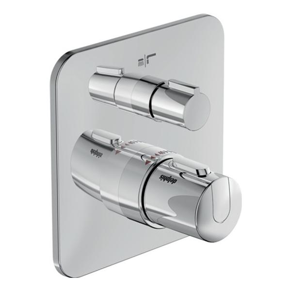 delphis unic Fertigmontage-Set für UP Wannen-Thermostat Bausatz 2 chr