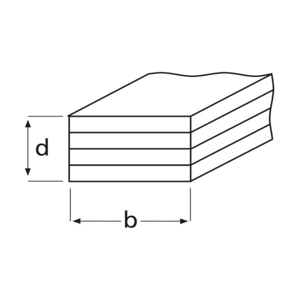 Saint-Gobain Rigips Plattenstreifen RB GKB 4SK 2,5m Dicke 3x12,5mm Breite 75mm