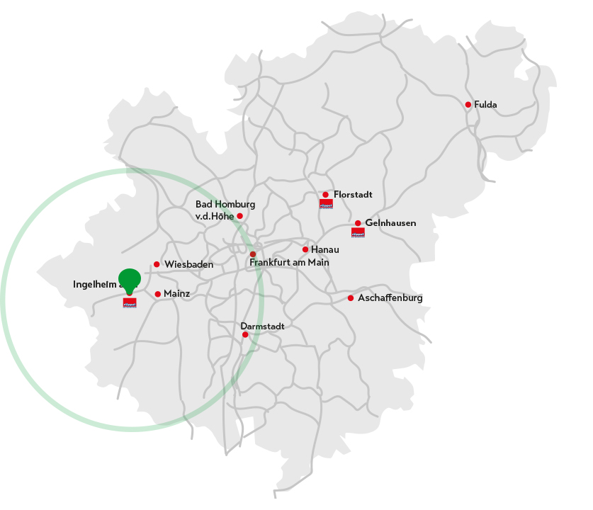 Landkarte Ingelheim am Rhein
